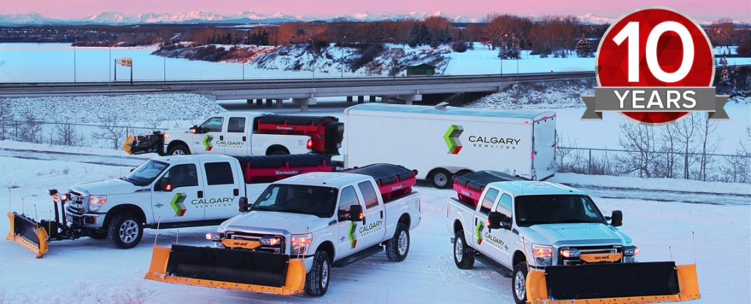 Calgary Services has a fleet of snow removal trucks ready to be deployed during any snow event.